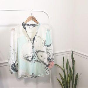 Diane Von Furstenberg | Silk 3/4 Sleeve Blouse 6